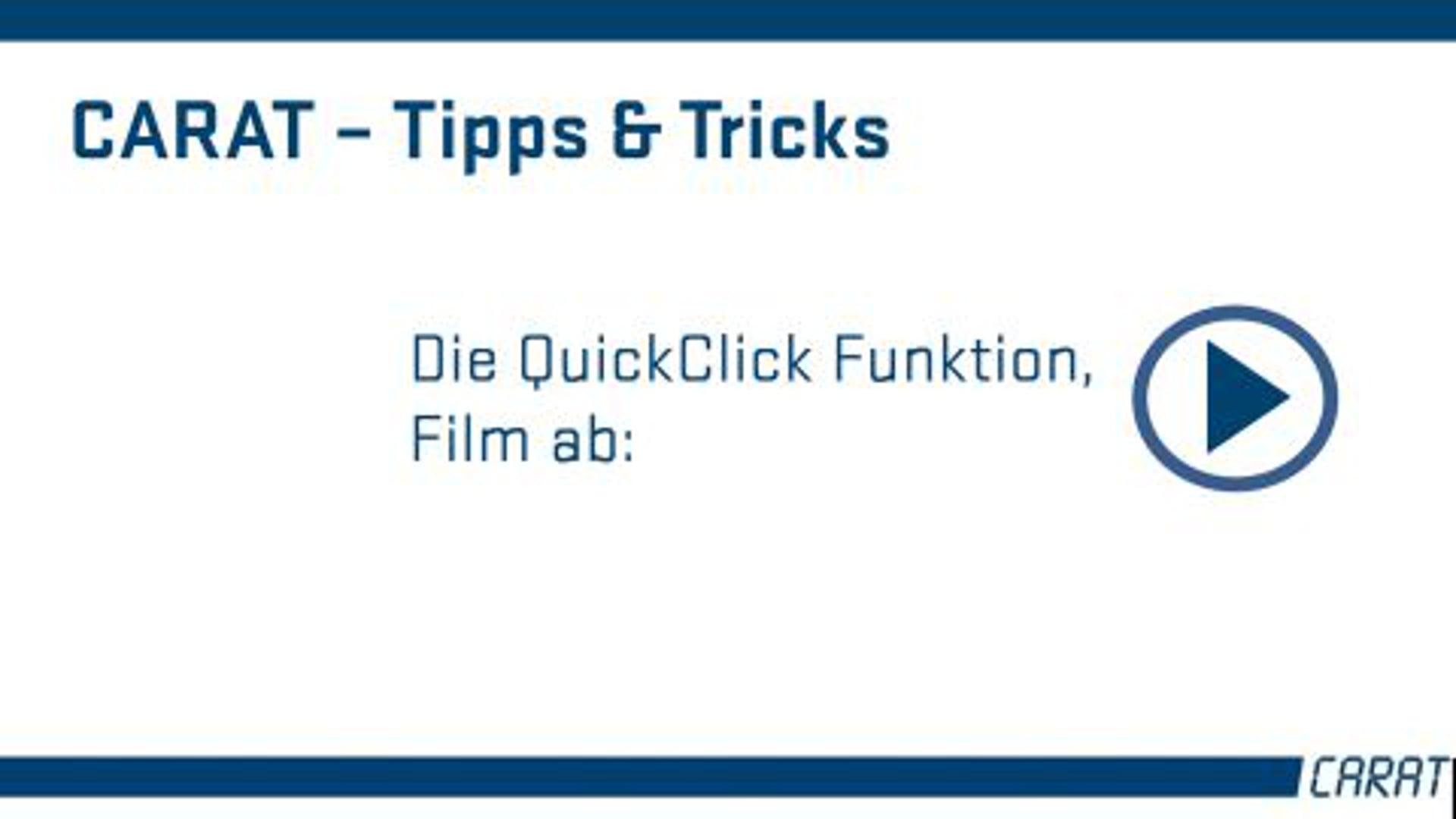 Tipps und Tricks - Die QuickClickfunktion