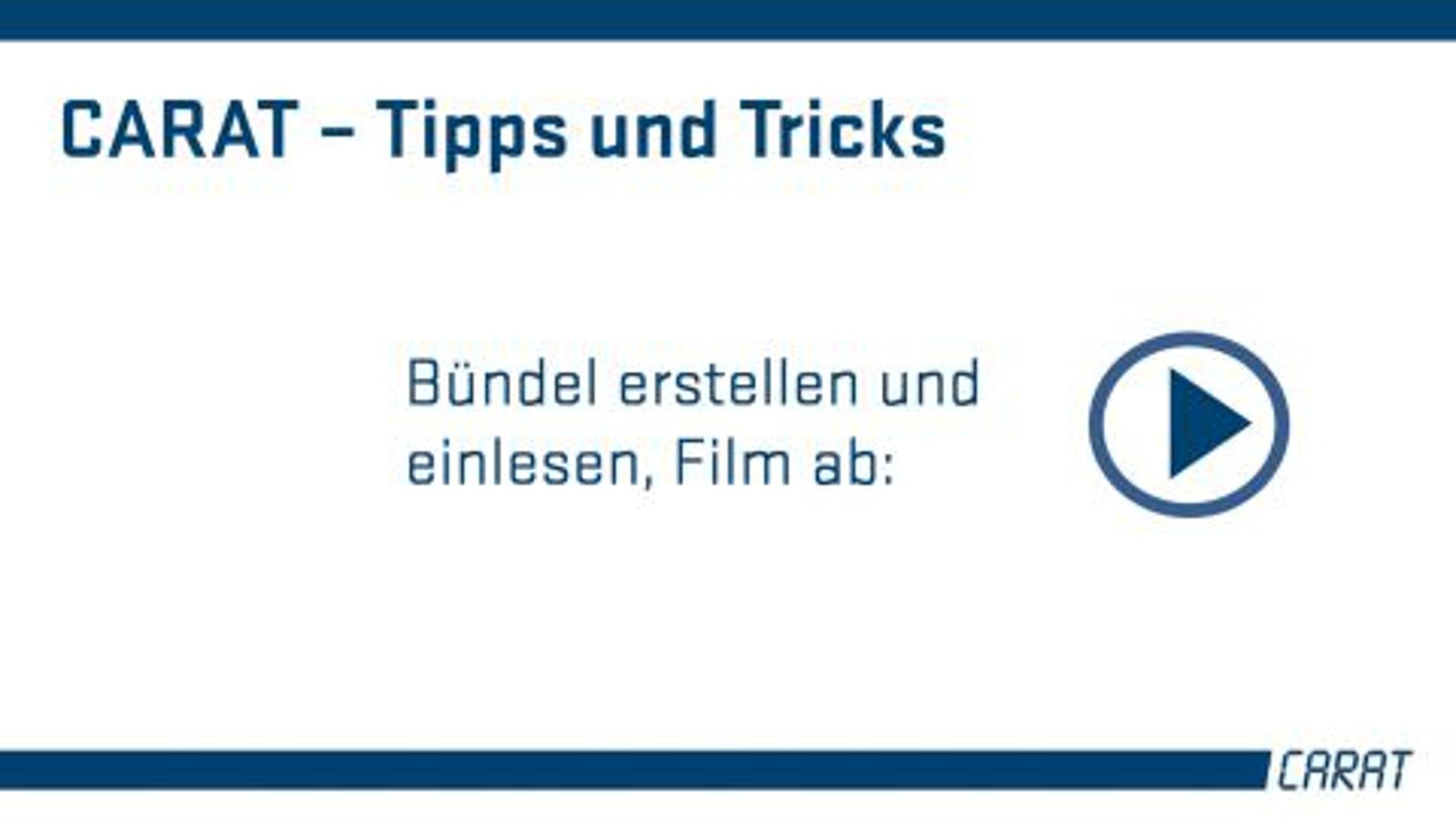 Tipps und Tricks - Bündel erstellen und einlesen