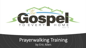 Prayerwalking Webinar with Eric Allen