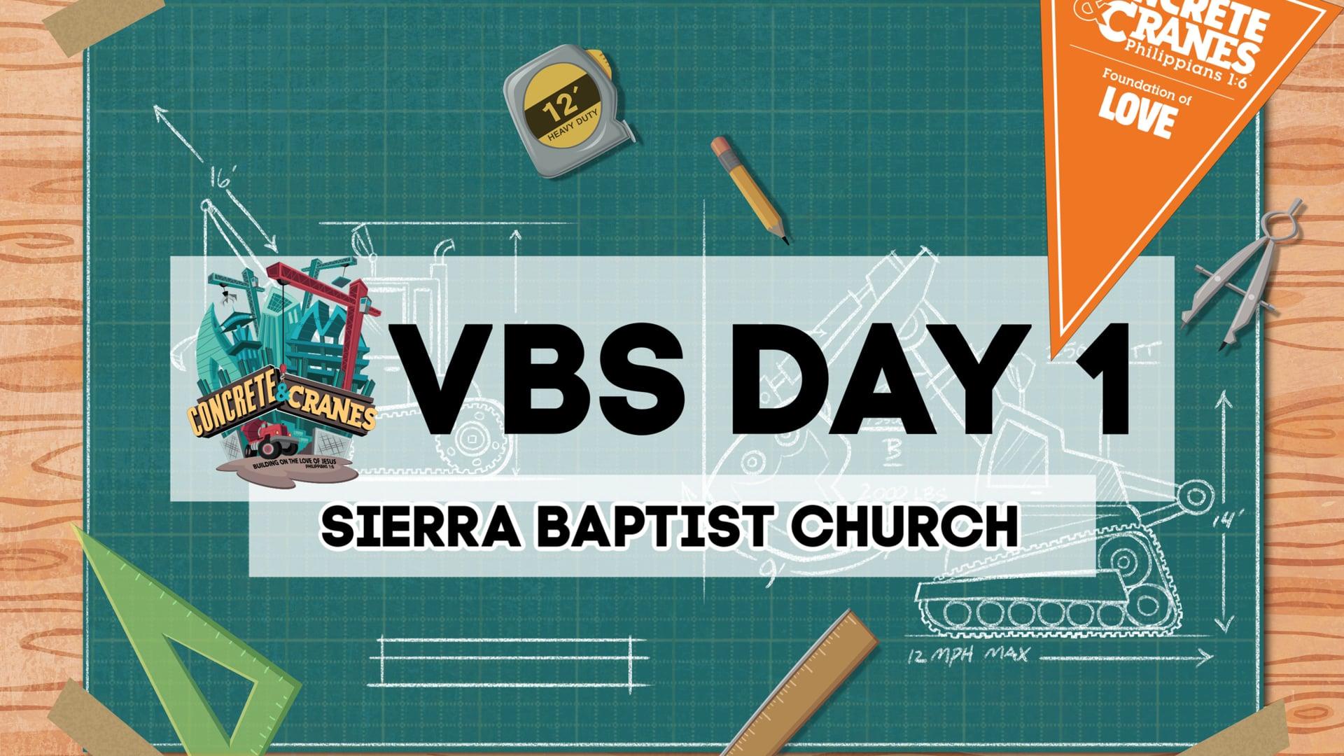 VBS Day 1 - Concrete & Cranes at Sierra Baptist Church