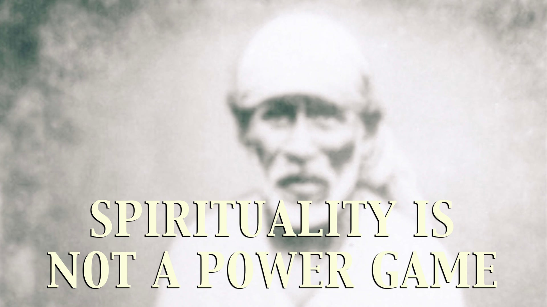 Spirituality is not a power game