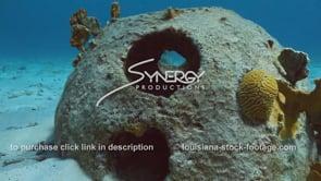 2203 reef ball close up man made artificial reef video