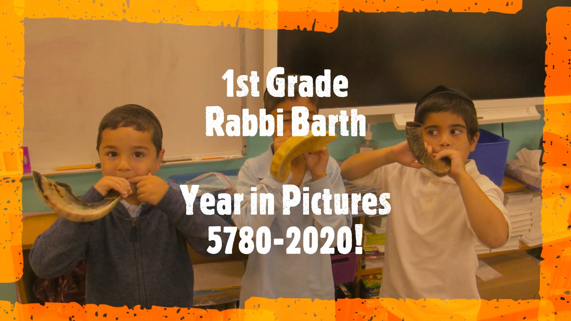1st Grade - Rabbi Barth: Year in Pictures 2019-2020!