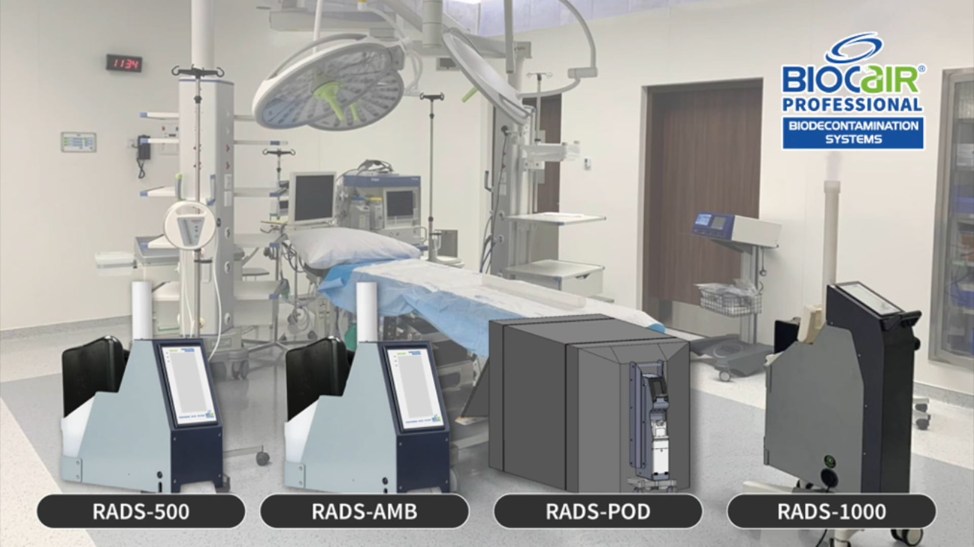 BioCair RADS-500 Information Video with demonstration