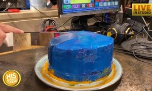 LIzz's Ugly Bakery: Mirror Glaze Galaxy Cake