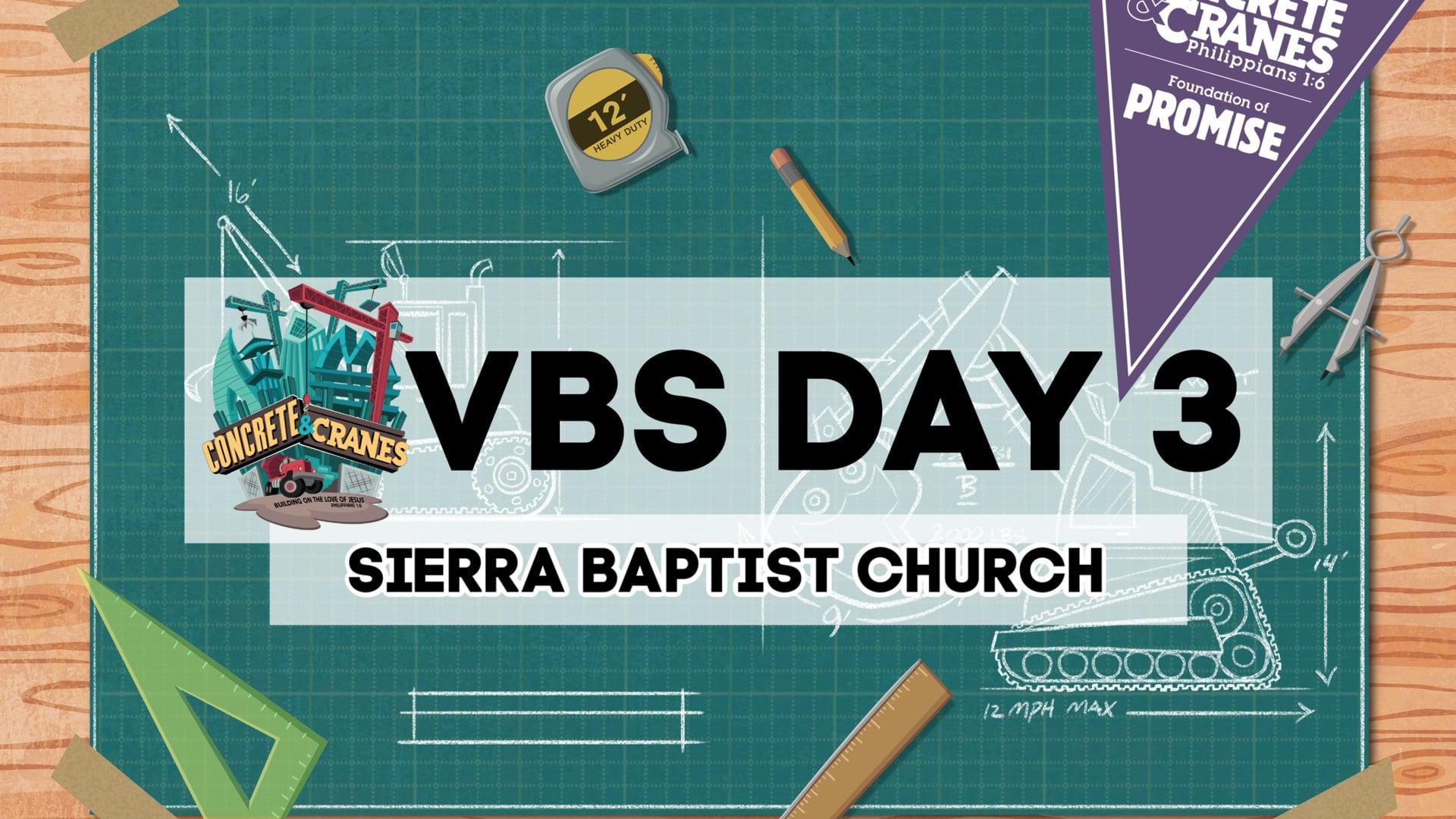 VBS Day 3 - Concrete & Cranes at Sierra Baptist Church