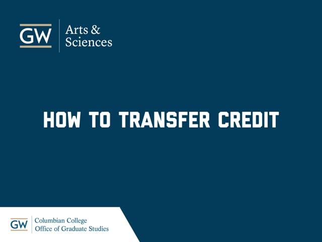 How To Transfer Credits