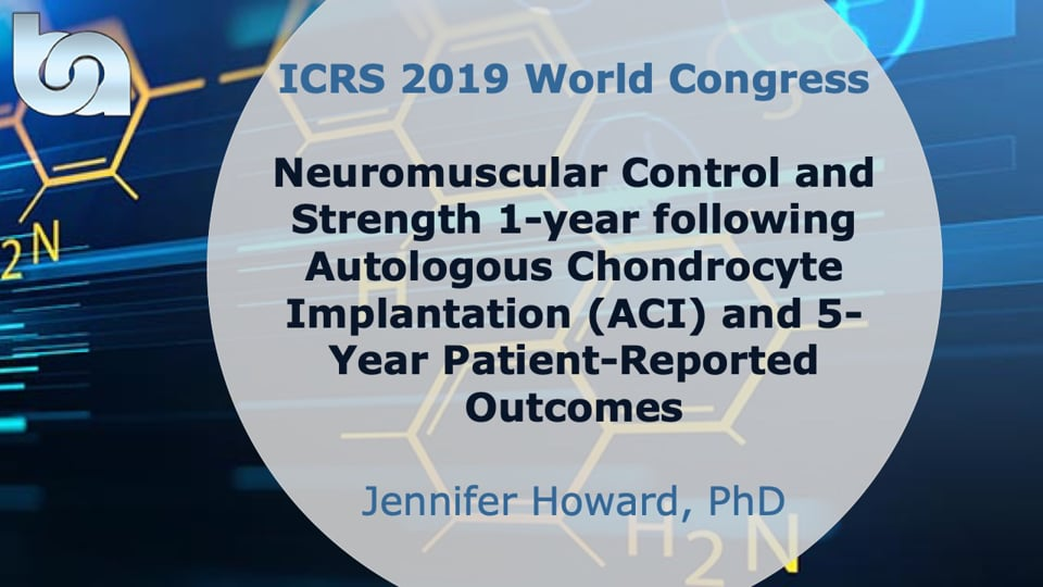 Neuromuscular Control and Strength 1-year following Autologous Chondrocyte Implantation (ACI) and 5-Year Patient-Reported Outcomes