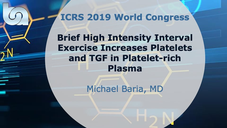 Brief High Intensity Interval Exercise Increases Platelets and TGF in Platelet-rich Plasma