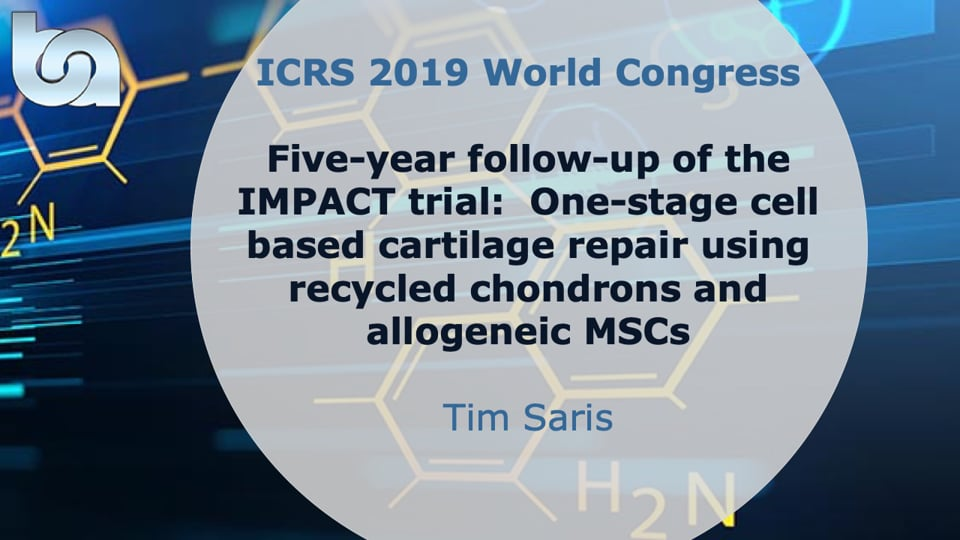 Five-year follow-up of the IMPACT trial:  One-stage cell based cartilage repair using recycled chondrons and allogeneic MSCs