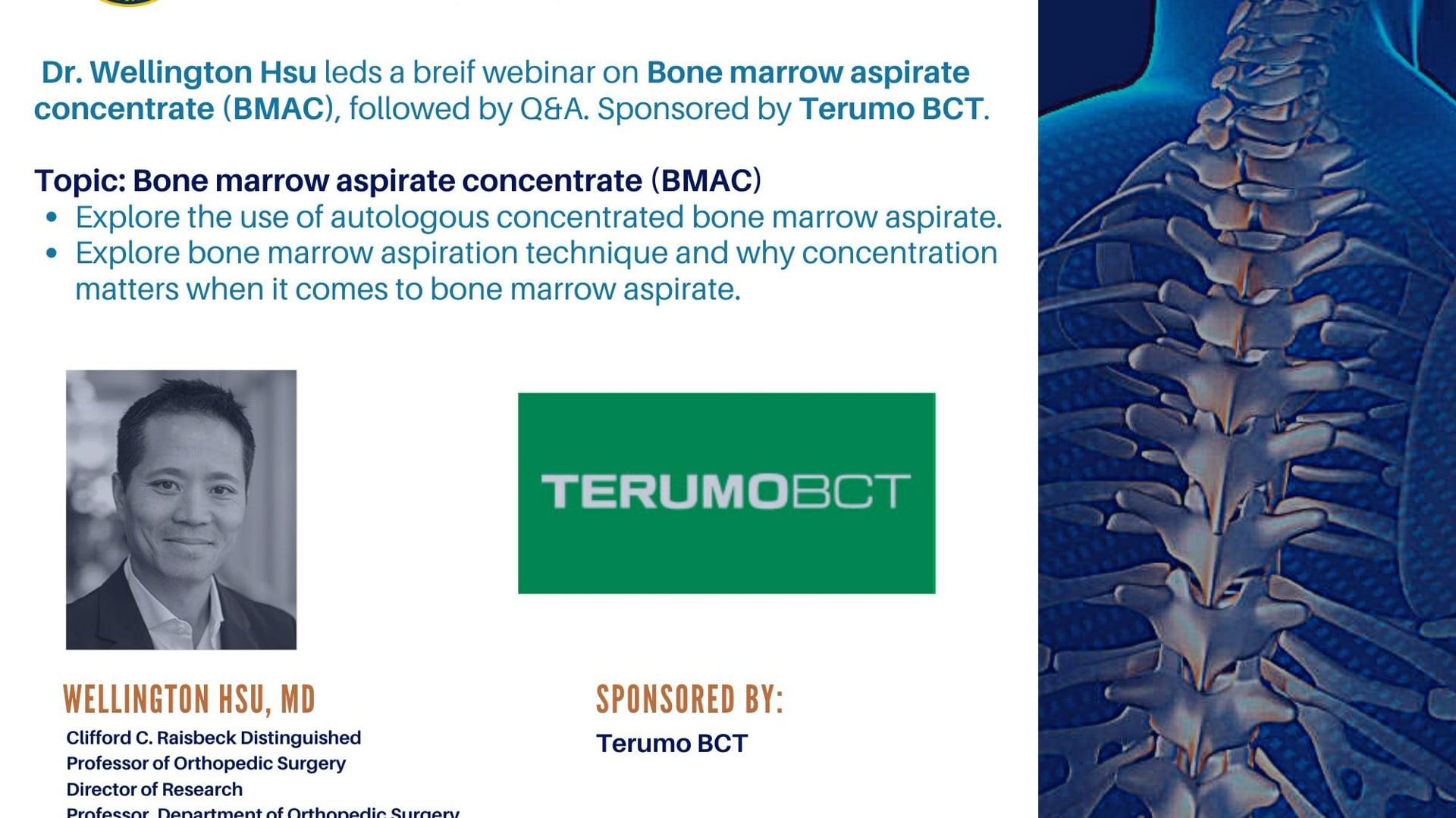 Bone Marrow Aspirate Concentrate (BMAC)  Spine IEP Webinar -