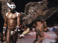Frame from Latex Ball Music Video