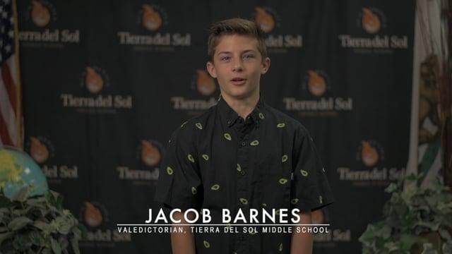 Jacob Barnes - TdS Middle School Class of 2020