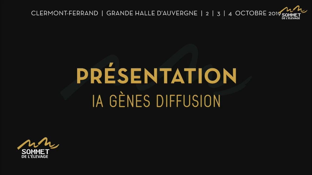 3 Octobre 2019 - Sommet de l'élevage - Présentation descendance IA Gènes Diffusion - 2019