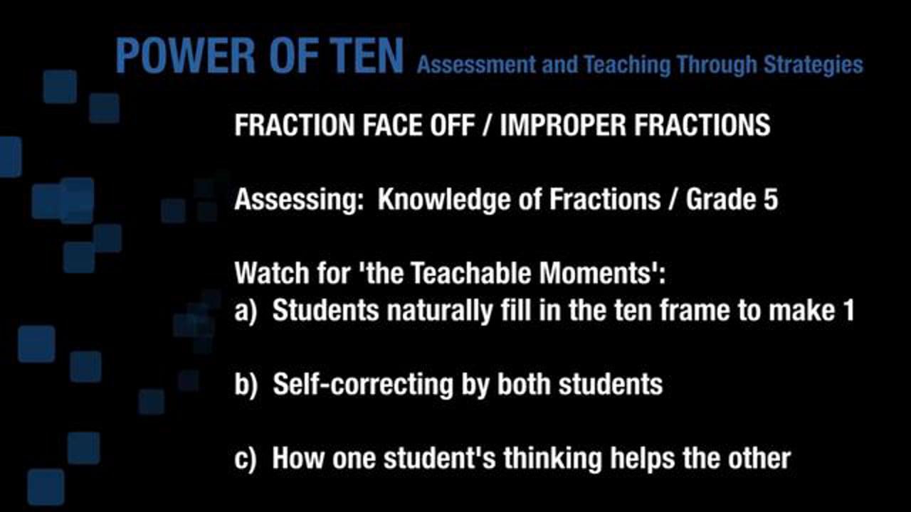 Grade 5 - Fraction Face Off - Improper Fractions