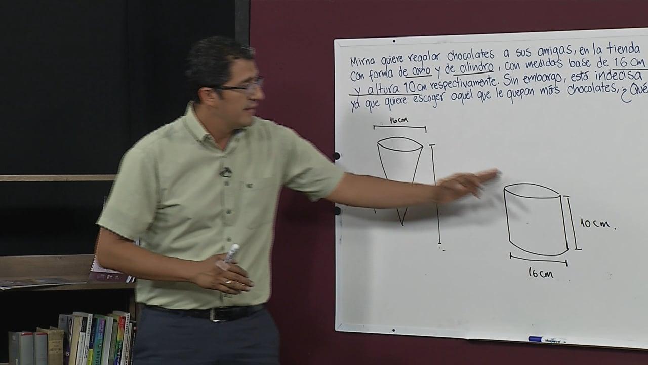 Volumen de cilindros y conos