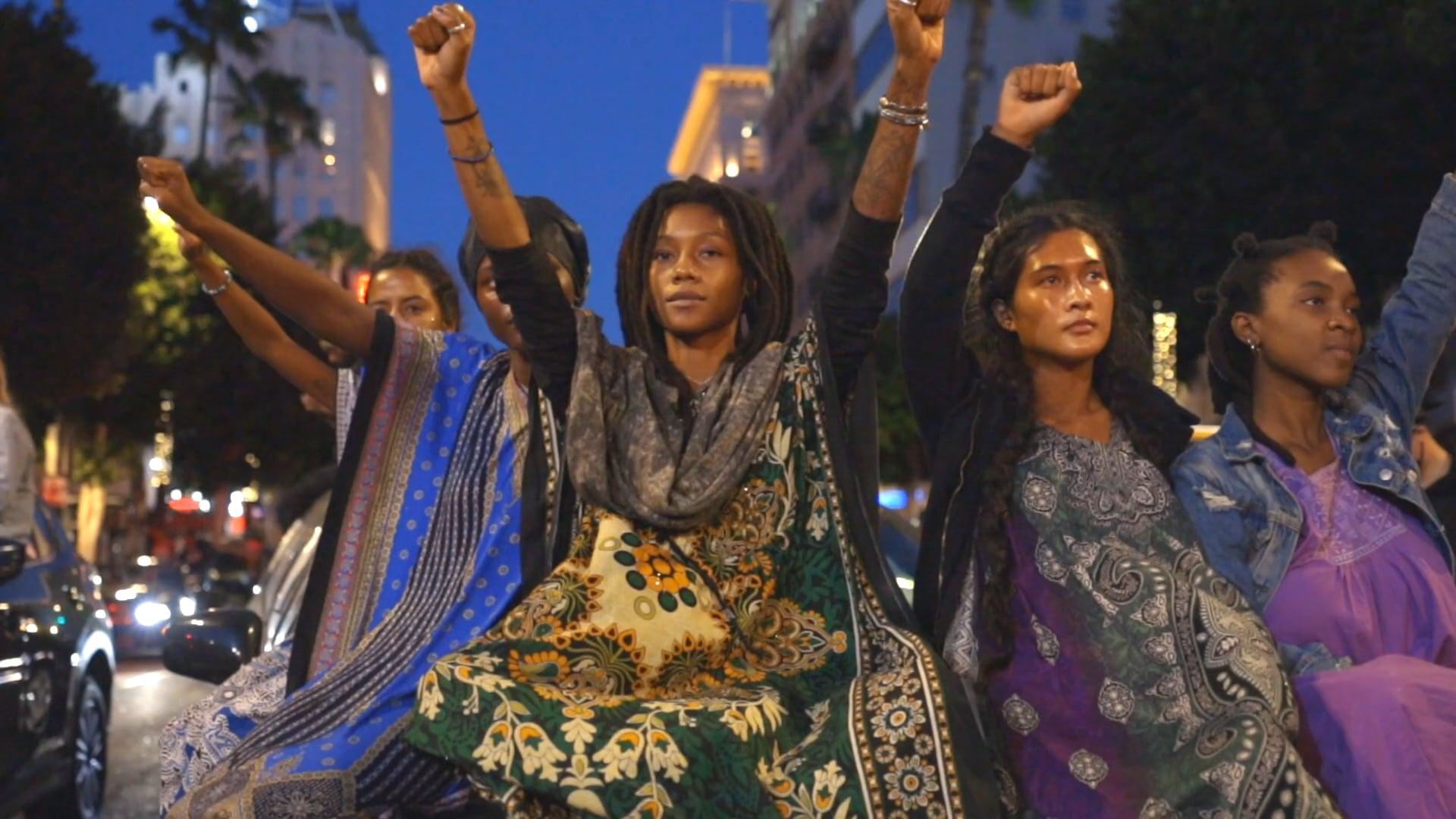 Black Lives Matter Community Protest - Hollywood, Ca