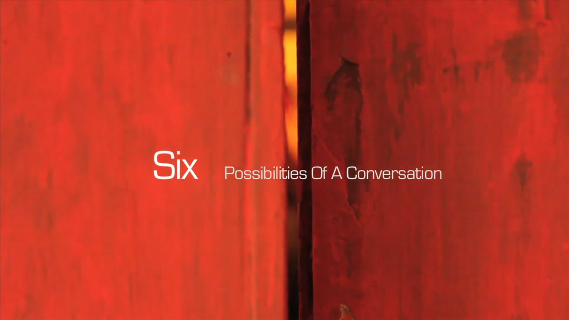 36 Questions In Proximity Of A Conversation | Trailer