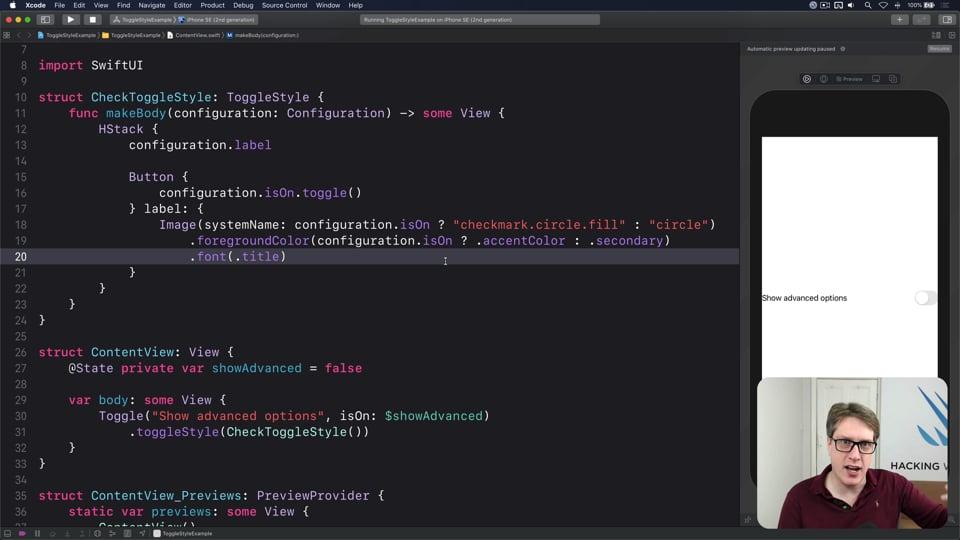 Customizing Toggle using ToggleStyle