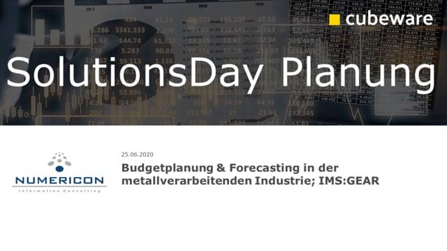 Budgetplanung & Forecasting in der metallverarbeitenden Industrie; IMS:GEAR