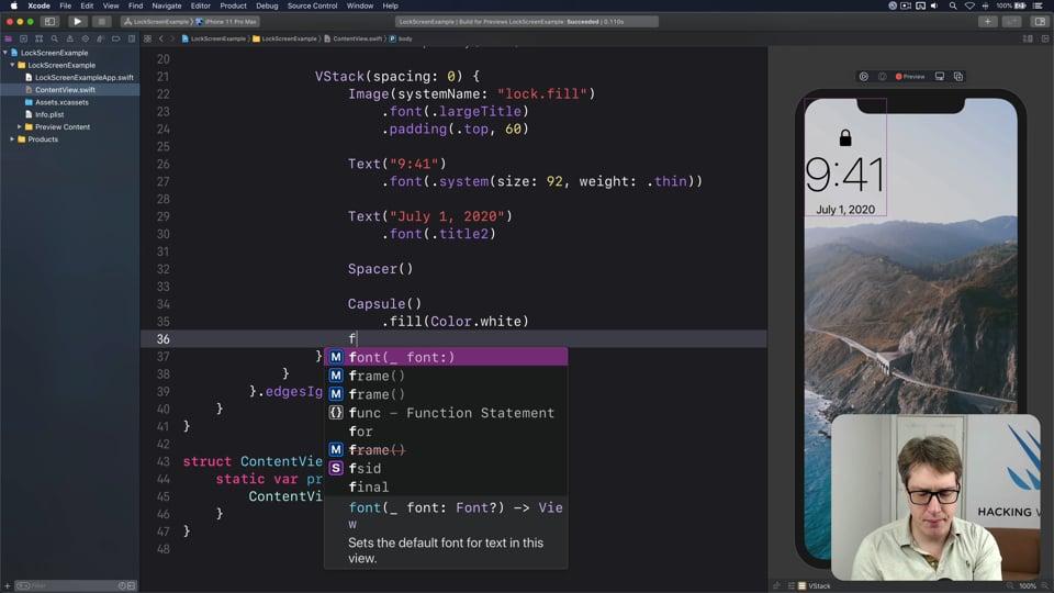Remaking the iOS lock screen