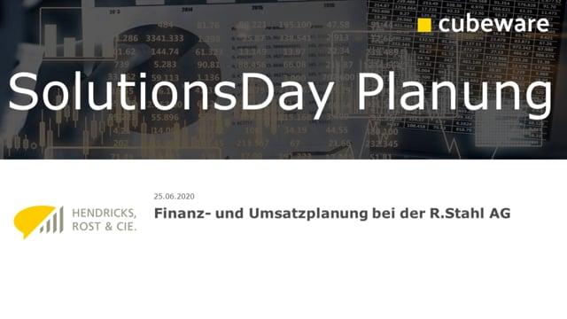 Finanz- und Umsatzplanung bei der R.Stahl AG