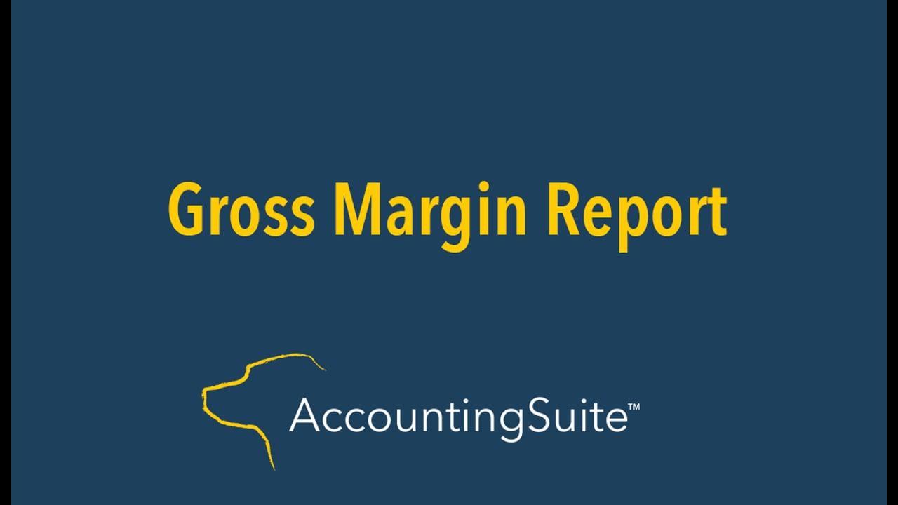 Gross Margin Report