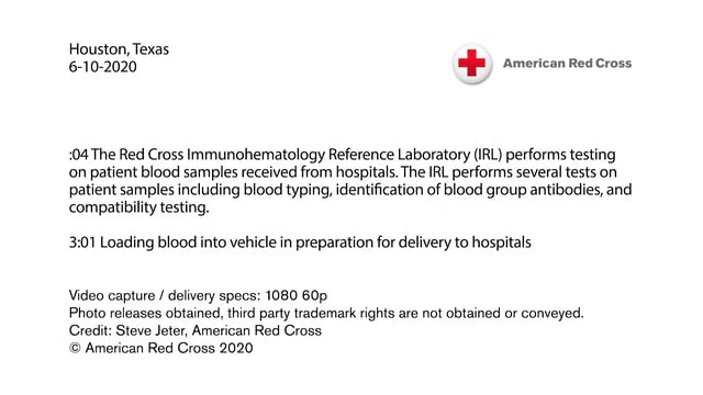 Biomed B-roll - Blood processing and testing in Houston Texas during Coronavirus pandemic