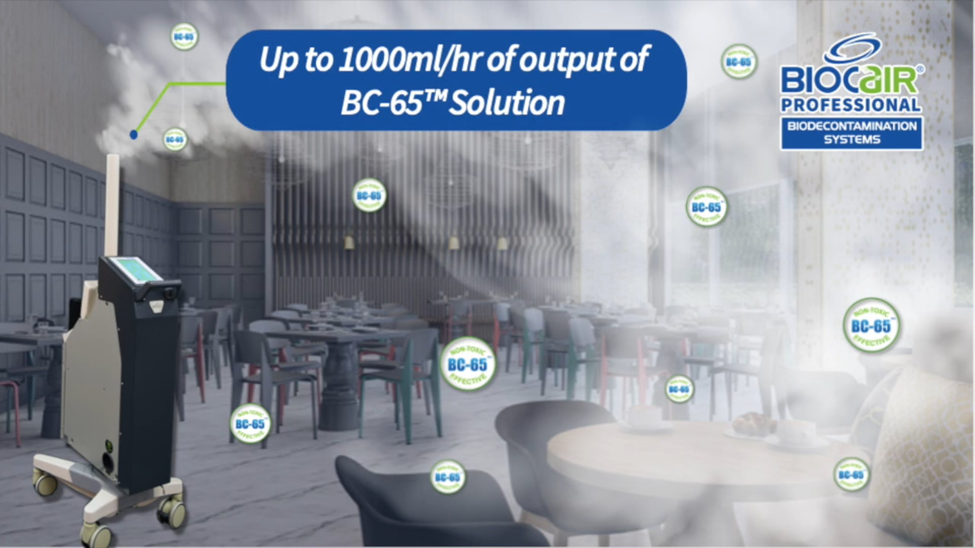 BioCair RADS-1000 Information Video with demonstration