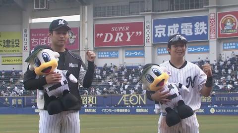 マリーンズ・種市投手・菅野選手ヒーローインタビュー 7/11 M-L