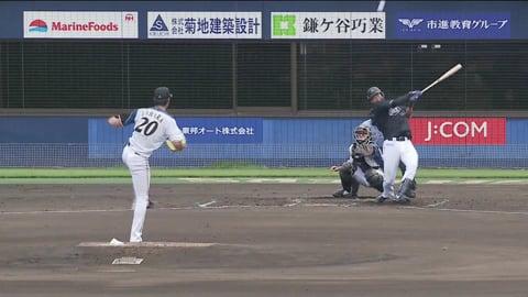 【ファーム】 マリーンズ・松田が左中間を破る先制のタイムリー2ベースヒット!! 2020/7/12 F-M(ファーム)