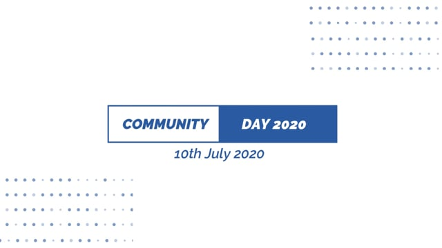 COMMUNITY DAY 2020 - PART EIGHT