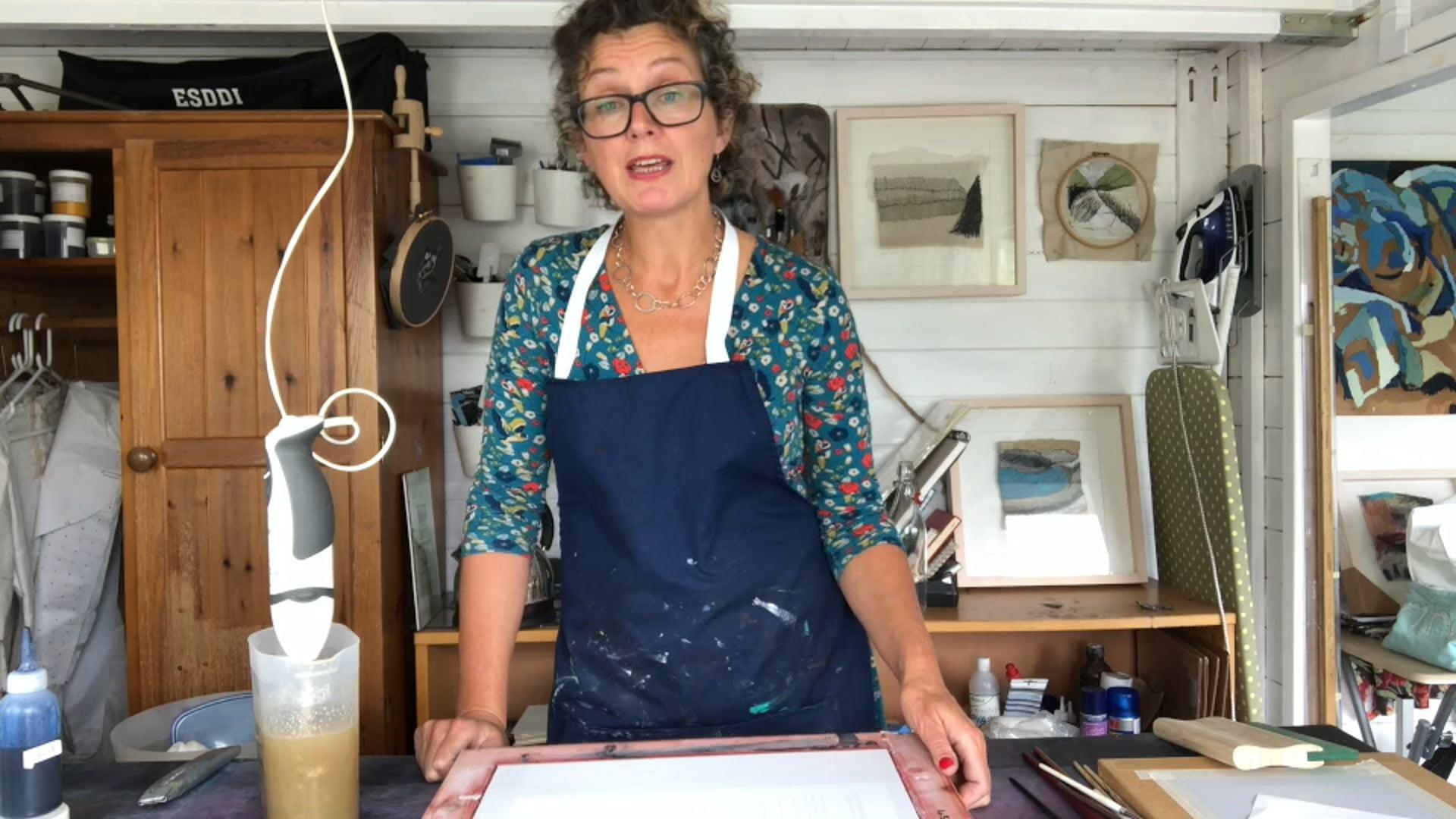 Dionne Swift Painterly Silk Screen Printing