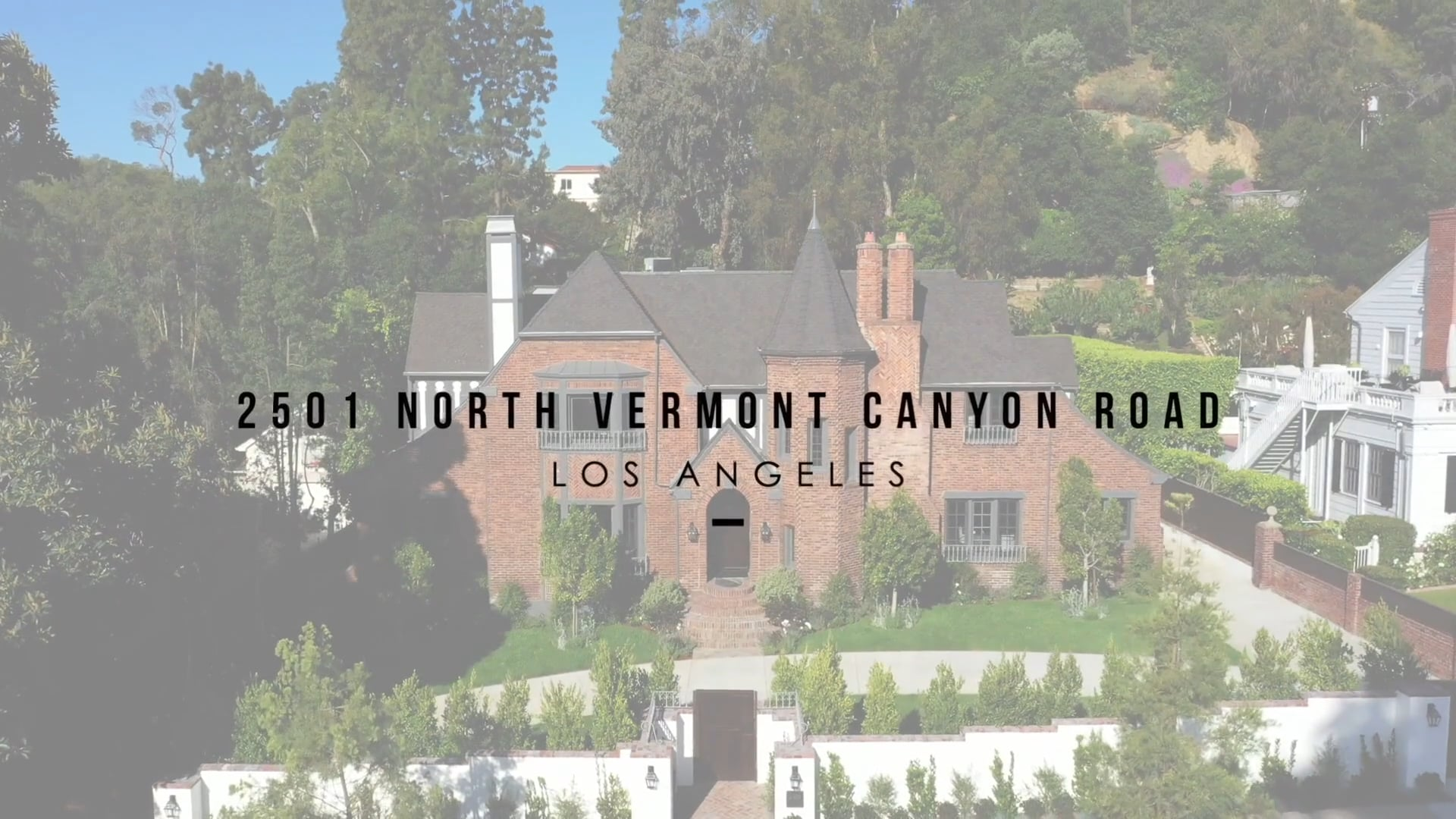 2501 Vermont Canyon Road, Los Angeles CA