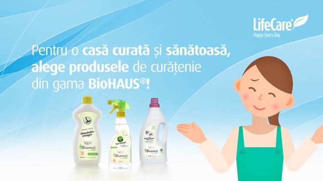 Detergent lichid cu nuci de sapun si lavanda - BioHAUS®