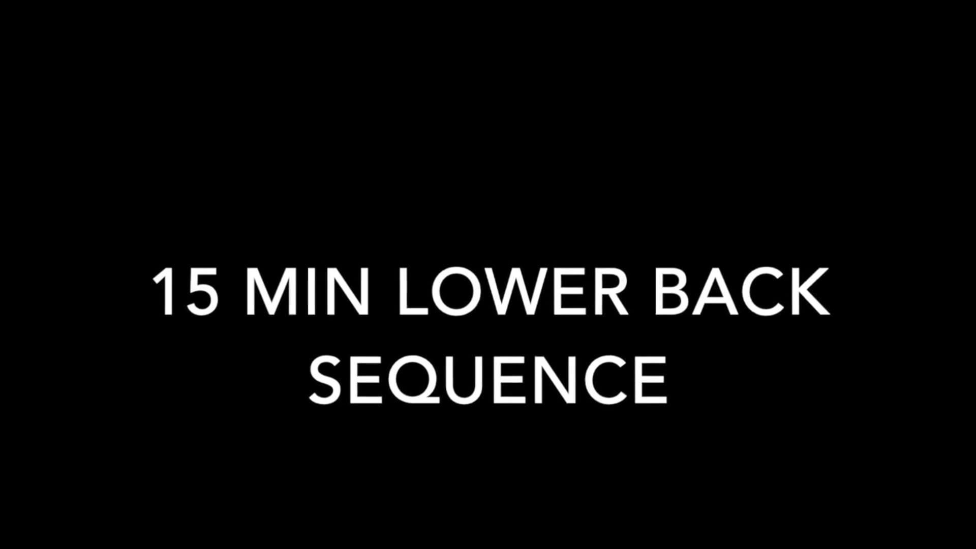 15 Min Lower Back