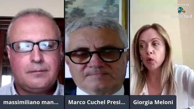 Confronto Giorgia Meloni e Marco Cuchel. Come far ripartire l'Italia stretta nella morsa della crisi economica?