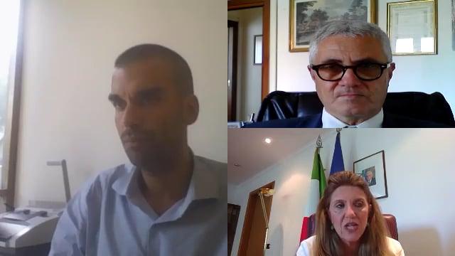 Confronto tra il Presidente Marco Cuchel e il sottosegretario al ministero del lavoro, Francesca Puglisi