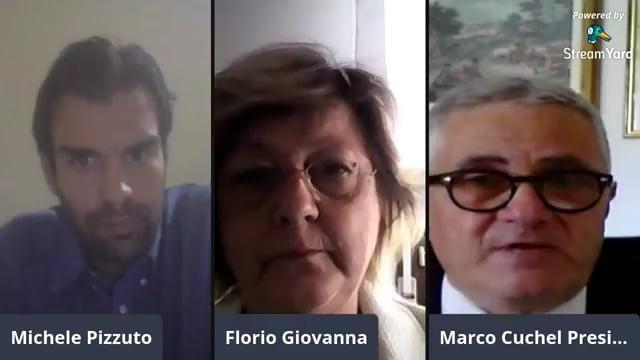 Marco Cuchel e la Presidente dell'Associazione Nazionale Commercialisti di Verona, Giovanna Florio
