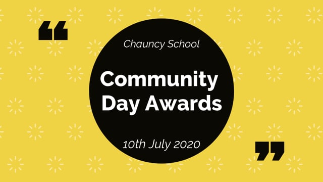 COMMUNITY DAY AWARDS 2020
