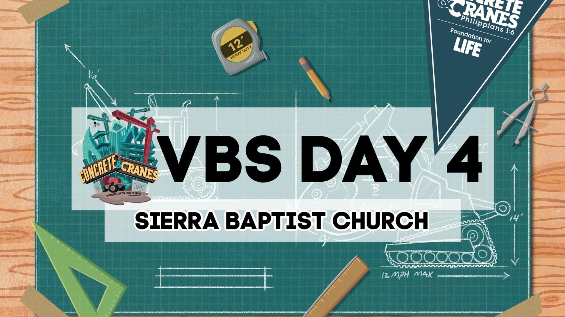VBS Day 4 - Concrete & Cranes at Sierra Baptist Church