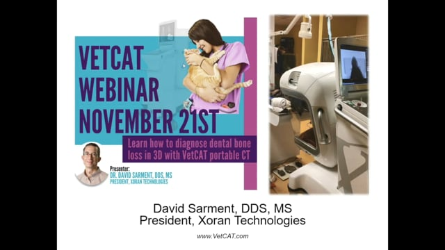 Webinar: Dr. David Sarment - Diagnosing Dental Bone Loss in VetCAT CT 3D