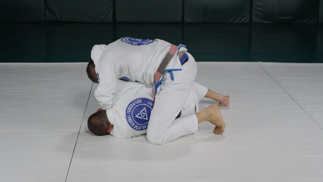 Side headlock escape using hook and arm frame