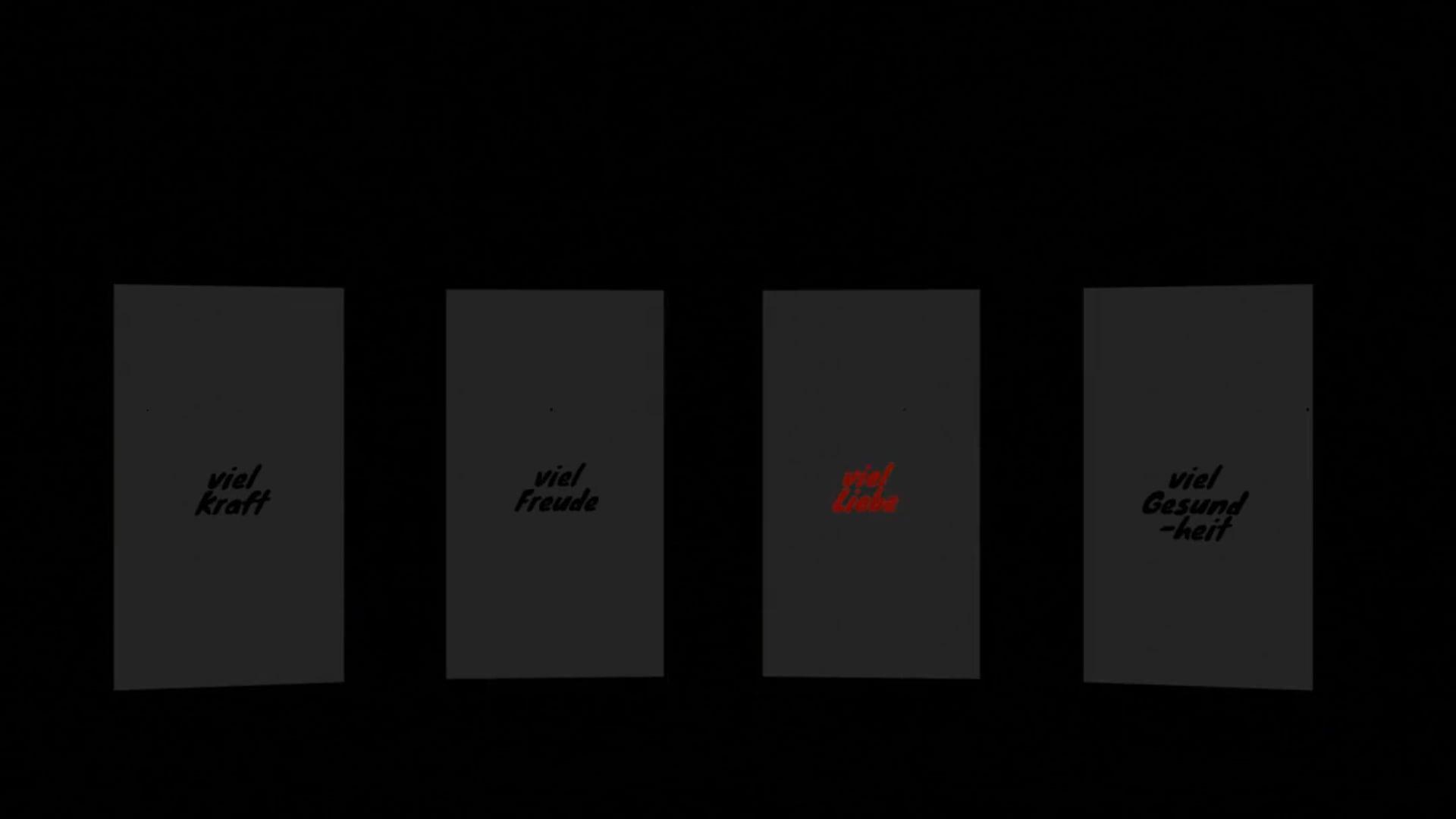 episch himmlisch digitale Handy 3D Gruß Worte dramatisch animiert zu mehr Bedeutung mit Sounddesign & Music by Jonas Grauer