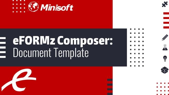 eFORMz Composer: Document Template