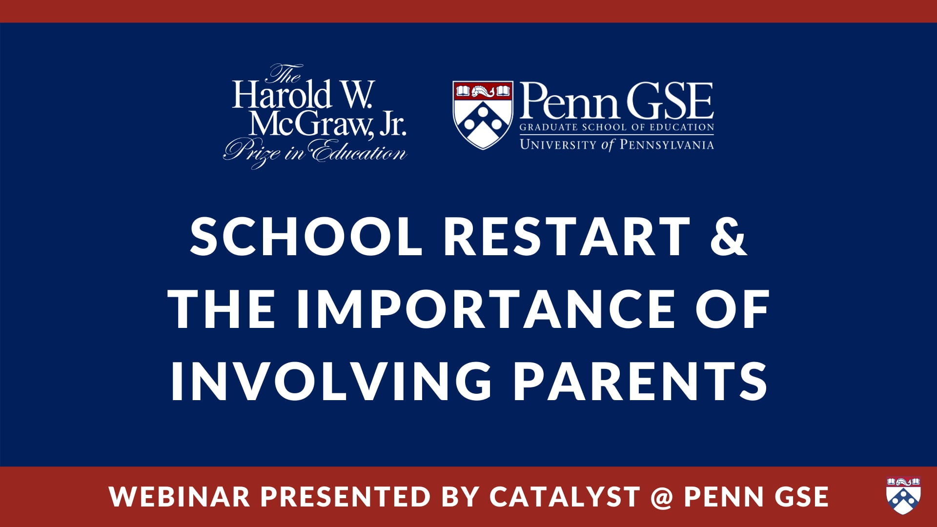 Play video: School Restart & the Importance of Involving Parents