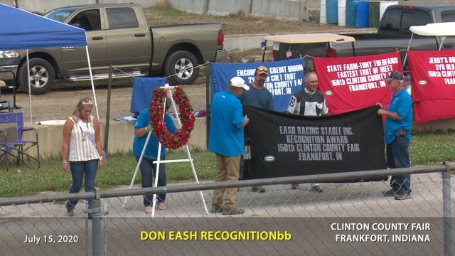 7-15-2020 Don Eash Recognition
