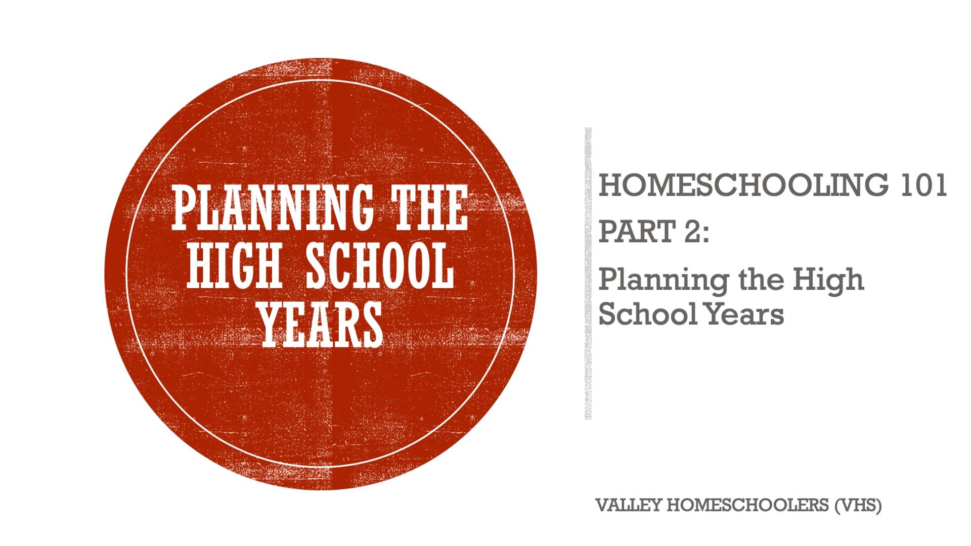 Homeschool in High School