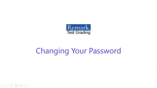 Remark Test Grading Cloud Edition Changing Your Password