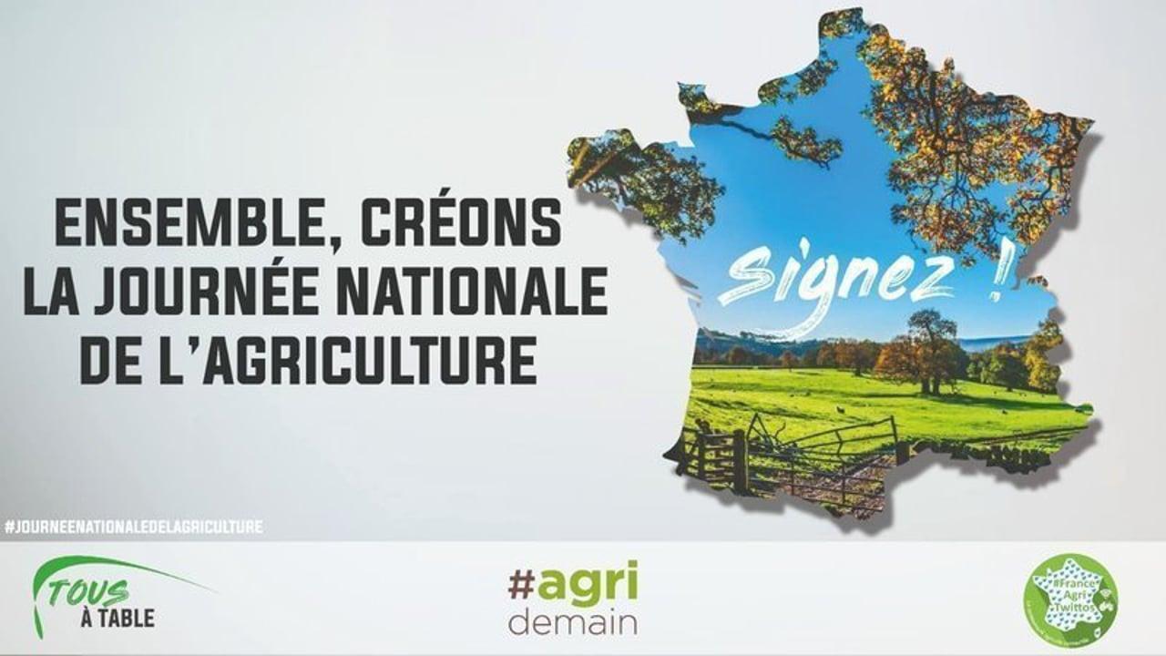 Une lettre ouverte pour une journée nationale de l'agriculture
